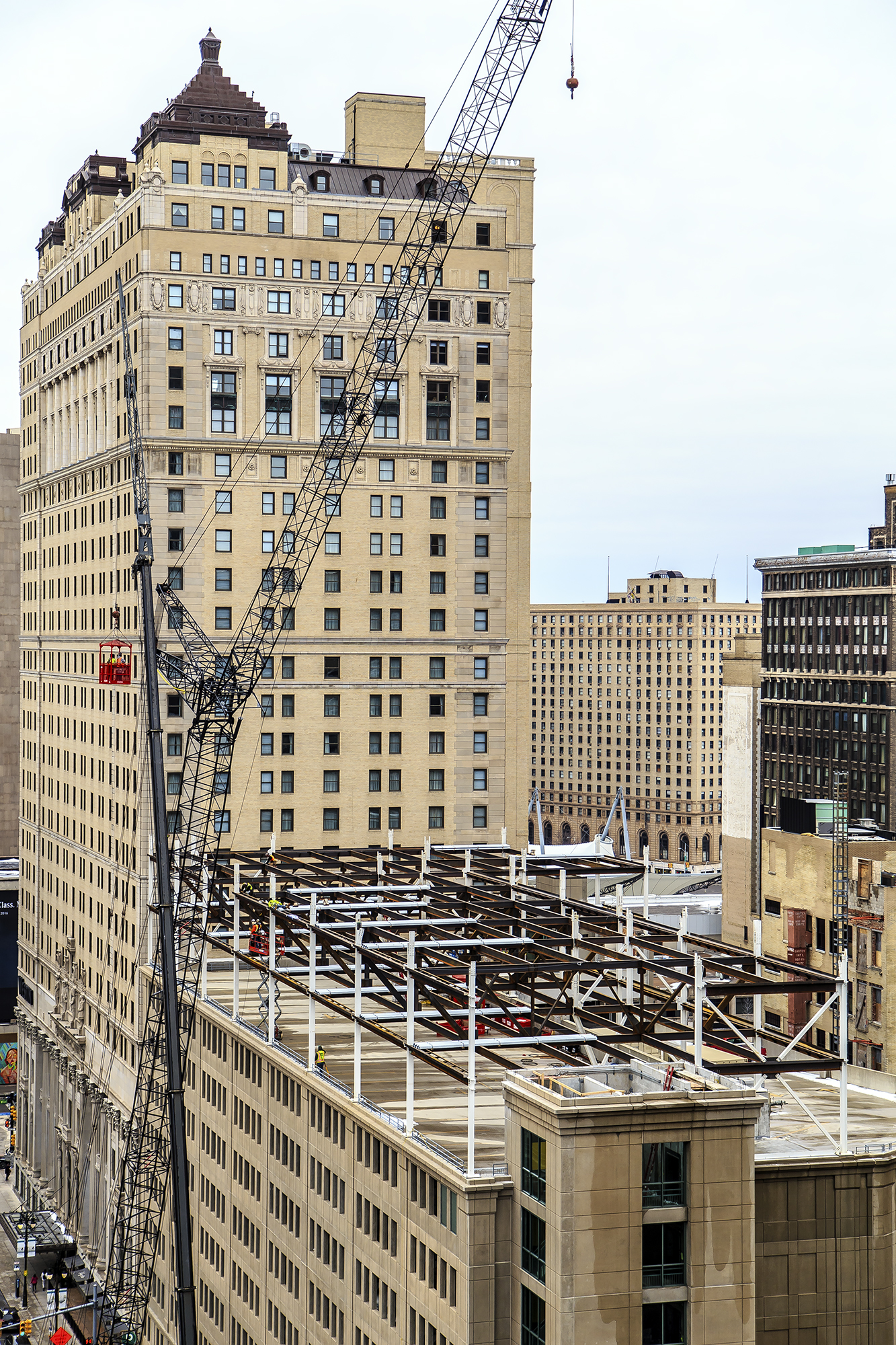 Lofty 'The Griswold' project rises atop parking structure