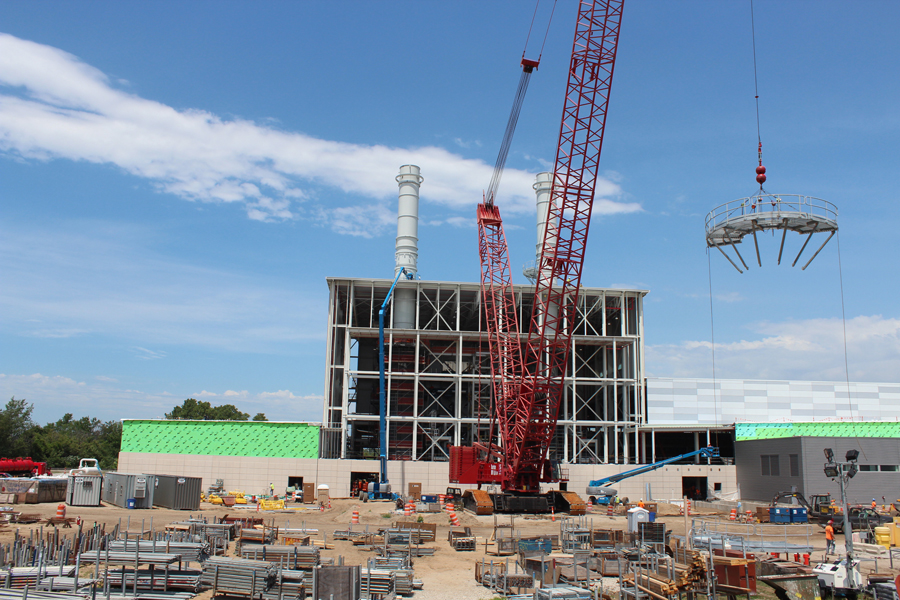 New Holland, Michigan power plant moves toward completion
