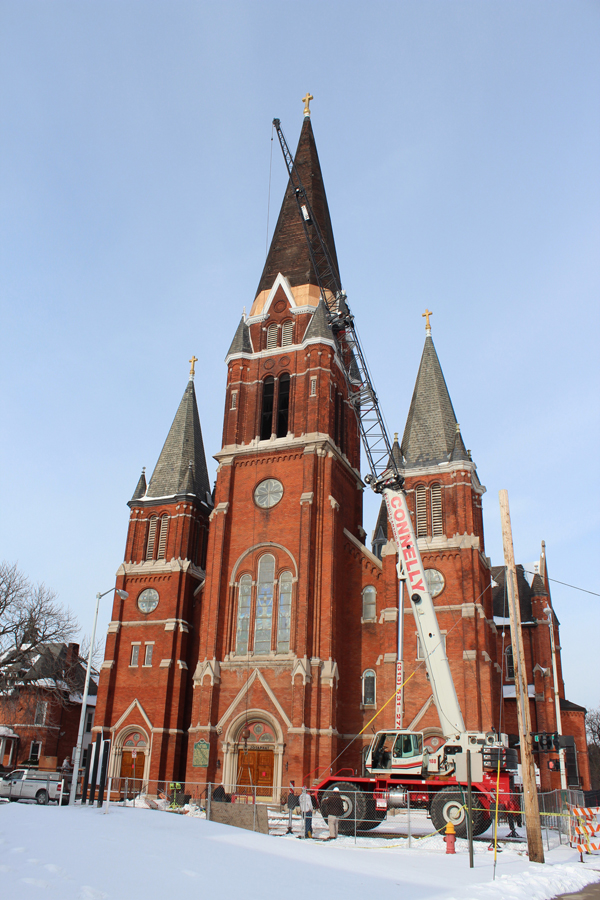 Quick Work Saves Iconic Church Steeple